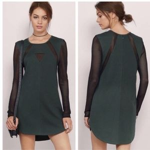 Tobi Mesh You Lots Olive Green Dress-Small